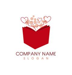 Book heart logo vector
