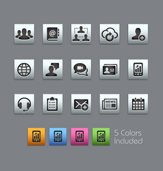 Business technology icons - satinbox series vector