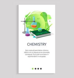 Chemistry subject in school university discipline vector