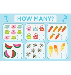 Childrens educational logic game Mathematical vector