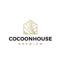 cocoon house logo icon vector image