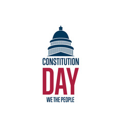 constitution day september 17 holiday concept vector image