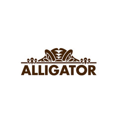crocodile alligator logo vector image