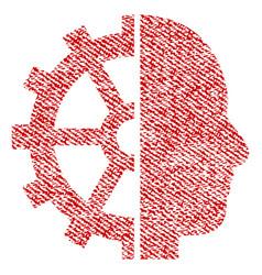 cyborg gear fabric textured icon vector image