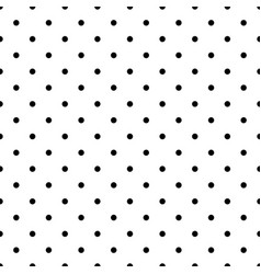 Dotted monochrome seamless pattern vector