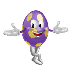 easter egg character vector image