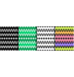 Ethnic striped zig zag seamless patterns set vector