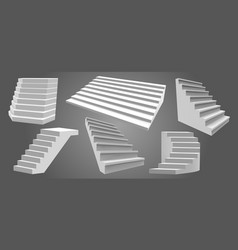 exterior realistic stairs architectural home vector image