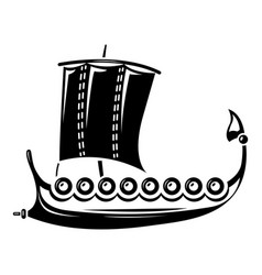 Galleon icon simple style vector