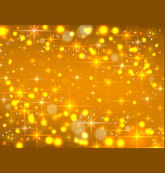 golden background with stars christmas vector image