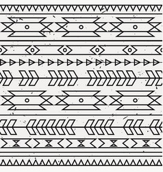 grunge monochrome seamless decorative ethnic vector image