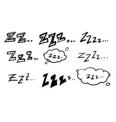 Handdrawn zzz symbol for doodle sleep vector