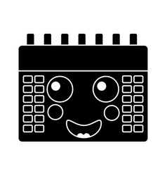 Happy calendar kawaii icon image vector