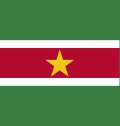 high detailed flag suriname vector image