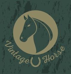 Horse vintage logo vector image