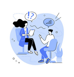 Job interview abstract concept vector