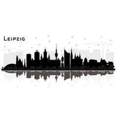 Leipzig germany city skyline silhouette vector