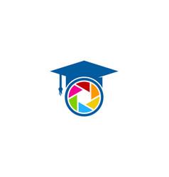 Lens education logo icon design vector