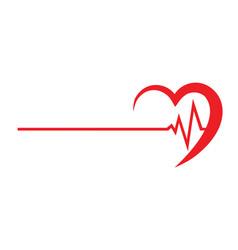 Logo for a cardio clinic vector
