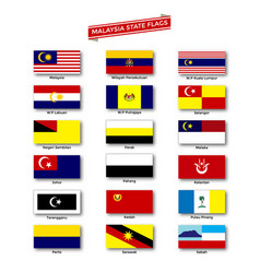 Malaysia state flags vector