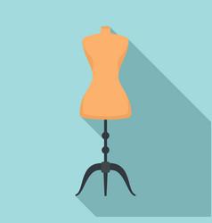 Mannequin dressmaker icon flat style vector