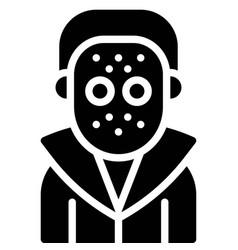 Masked murderer costume icon halloween costume vector