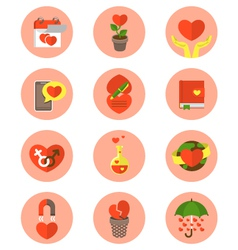Modern Flat Love Symbols vector