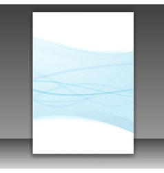 New folder template - blue lines frame vector