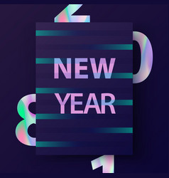 new year cover design vector image