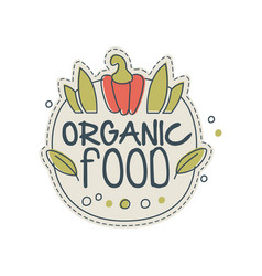 Organic food logo template design badge for vector