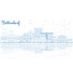 Outline bettendorf iowa skyline with blue vector