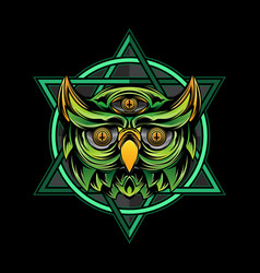 owl t-shirt design vector image
