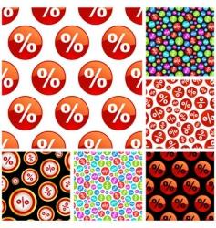 percent symbol pattern vector image