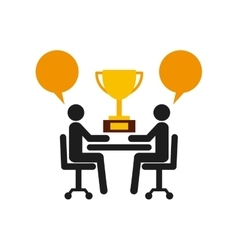 Pictogram bubble trophy icon Businesspeople vector