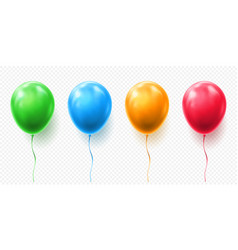 realistic red orange green and blue balloon vector image