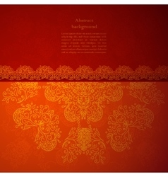Red indian ornament vector image