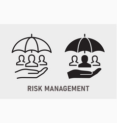 risk management icon on white background vector image