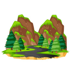 road to the nature vector image