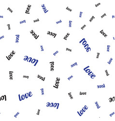 seamless pattern with word love written vector image