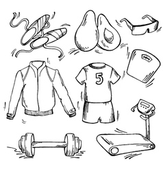 set sport icon vector image