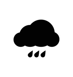 Simple cloud icon vector