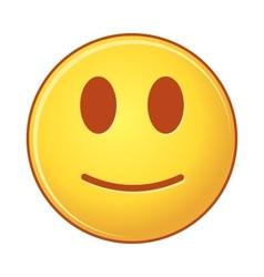 Smiling emoticon of emoji vector image