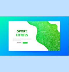 sport fitness landing page vector image