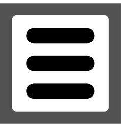 Stack flat black and white colors rounded button vector