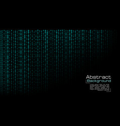 streaming blue binary code on black vector image
