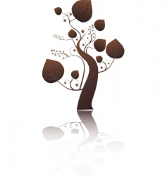 stylized tree with leaves vector image