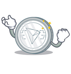 successful tron coin character cartoon vector image