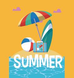 summer and vacations cartoons vector image