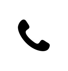 telephone symbol button icon vector image