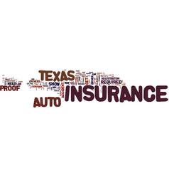 Texas auto insurance faq text background word vector
